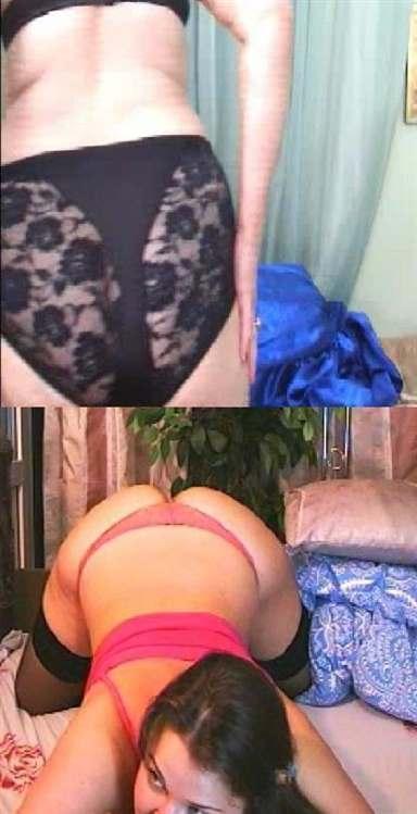 Wife white bra and panties